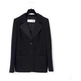 Yves Saint Laurent-SMOKING HAUTE COUTURE BLACK FR40/42-Noir