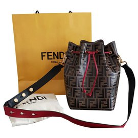 Fendi-Bucket bag my treasure-Brown