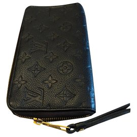 Louis Vuitton-Clemence zippy-Black,Navy blue,Dark blue