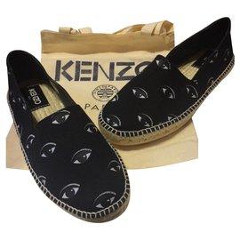 Kenzo-Espadrilles-Black,White