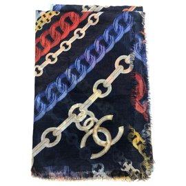Chanel-Châle en cachemire CHANEL-Multicolore