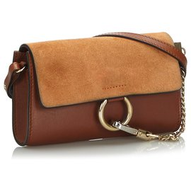 Chloé-Chloe Brown Leather Faye-Brown