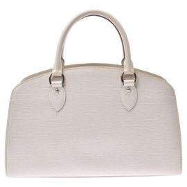 Louis Vuitton-Louis Vuitton Epi Ponneuf PM-White