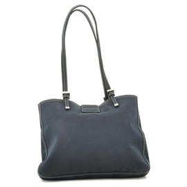 Fendi-Fendi Canvas Shoulder Bag-Blue