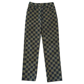 Fendi-Pants, leggings-Brown,Black