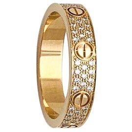Cartier-Bague Cartier Love en or rose et diamants.-Autre