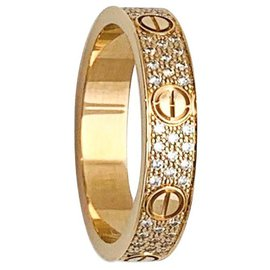 Cartier-Cartier Love ring in pink gold and diamonds.-Other