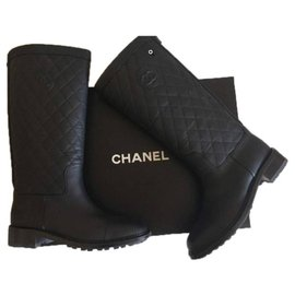 Chanel-Boots-Black