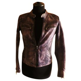 Redskins-REDSKINS leather size M perfect condition-Purple