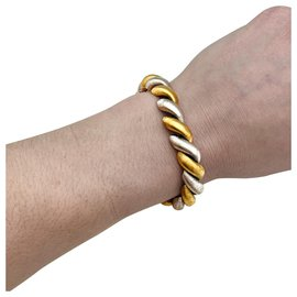 inconnue-Two tone gold bracelet.-Other