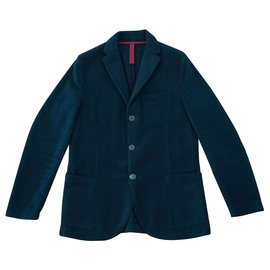 Harris Wharf London-Blazers Jackets-Navy blue