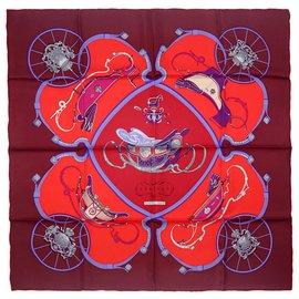 Hermès-Springs-Red,Multiple colors,Dark red