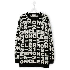 Moncler-neuer Moncler Pullover-Schwarz,Weiß