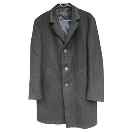 Autre Marque-Saint Remy - vintage coat in pure new wool t 46-Dark grey