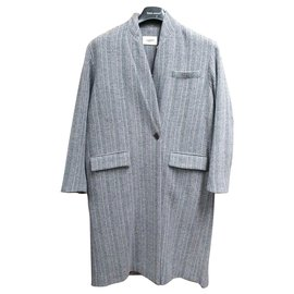 Isabel Marant Etoile-Coats, Outerwear-Blue,Grey,Purple