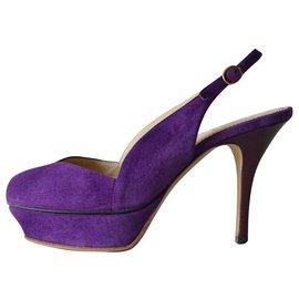 Yves Saint Laurent-Sandals-Purple