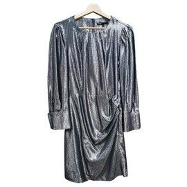 Maje-Dresses-Silvery