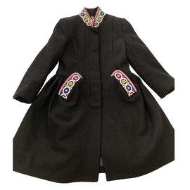 Jean Paul Gaultier-Girl Coats outerwear-Black