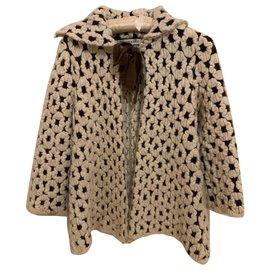Autre Marque-Coat Boys & Girls-Beige,Dark brown