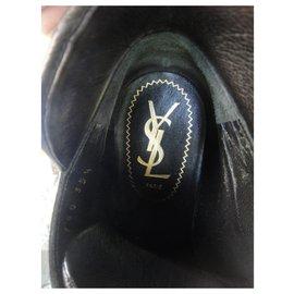 Yves Saint Laurent-Yves Saint Laurent Rive Gauche boots p 35 1/2-Black