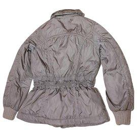 Louis Vuitton-Louis Vuitton down jacket 40-Grey,Metallic