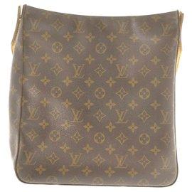 Louis Vuitton-Louis Vuitton Monogram Looping GM-Brown