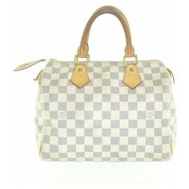Louis Vuitton-Louis Vuitton Damier Azur Speedy 25-Beige