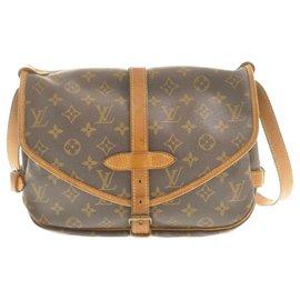 Louis Vuitton-Louis Vuitton Monogram Saumur 30-Brown