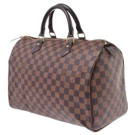 Louis Vuitton-Louis Vuitton Damier Speedy 35-Brown