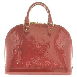 Louis Vuitton-Louis Vuitton Monogram Vernis Alma PM-Red