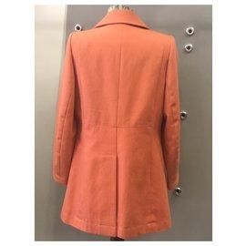 Hermès-Manteaux, Vêtements d'extérieur-Orange