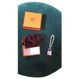 Hermès-Charmes de sac-Argenté