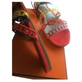 Hermès-Des sandales-Multicolore