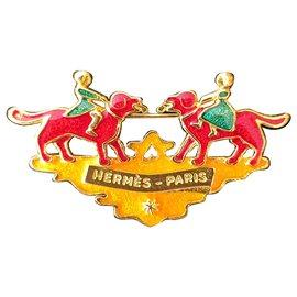 Hermès-Broches et broches-Doré