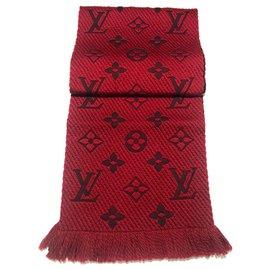 Louis Vuitton-Echarpe Louis Vuitton Logomania-Rouge