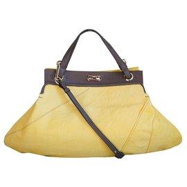 Chloé-Handbags-Brown,Yellow