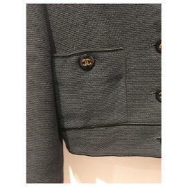 Chanel-Jackets-Black,Golden