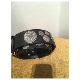 Chanel-Belts-Black,Silvery