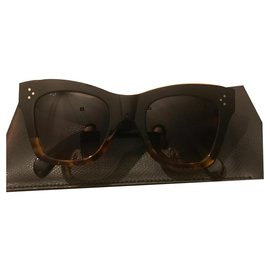 Céline-Sunglasses-Brown,Black