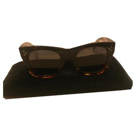 Céline-Sunglasses-Brown,Black