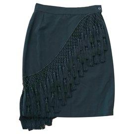 Vintage Versace Leopard Print Skirt VINTAGE VERSACE Women Designer Vintage Versace Skirt Versus Gianni Versace