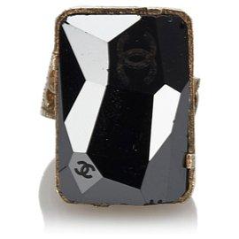 Chanel-Bague Chanel Noir CC-Noir,Doré