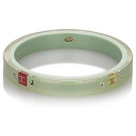 Chanel-Bracelet Chanel Vert CC-Rose,Vert,Vert clair