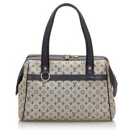 Louis Vuitton-Louis Vuitton Mini Lin Lin Josephine PM Gris-Noir,Gris