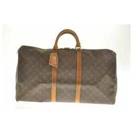 Louis Vuitton-Louis Vuitton Monogram Keepall 55-Marron