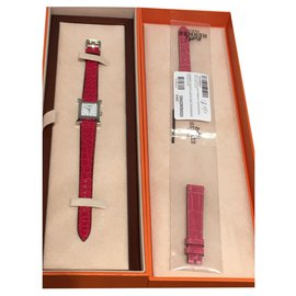 Hermès-H-Silber,Rot