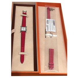 Hermès-H-Silvery,Red