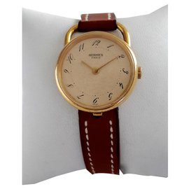 Hermès-Gold hoop 18 carat-Golden