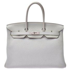 Hermès-HERMES BIRKIN 35-Blanc