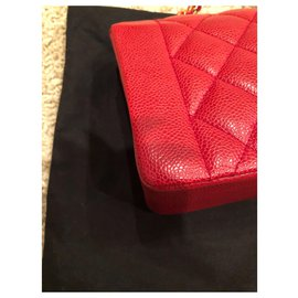 Chanel-Rare Sac Chanel DIANA Rouge caviar-Rouge